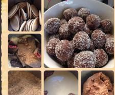 Recipe Cherry Ripe Balls by Thermie Lovin', learn to make this recipe easily in your kitchen machine and discover other Thermomix recipes in Baking - sweet. Sweet Recipes, Cake Recipes, Dessert Recipes, Thermal Cooker, Bellini Recipe, Cherry Recipes, Party Finger Foods, Balls Recipe, Christmas Cooking