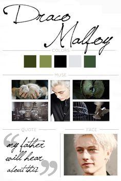 Draco Malfoy mood board