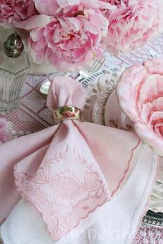 lovely pink table setting