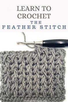 Easy Crochet Stitches, Afghan Crochet Patterns, Crochet Basics, Crochet Motif, Stitch Patterns, Knitting Patterns, Loop Stitch Crochet, Blanket Patterns, Loom Knitting