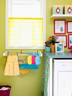 How to Remove Stains from Kids' Clothes ( on a side note, I love the colors of this kitchen )