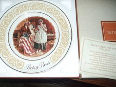 Vintage 1973 Avon Betsy Ross Collectible Plate by by PAULIE22, $5.00
