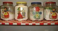 vintage jar canisters
