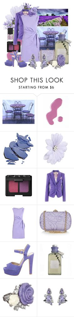 """Shades of Lavender"" by pixidreams ❤ liked on Polyvore featuring Fountain, Jack Wills, By Terry, Nexus, ASOS, NARS Cosmetics, Diane Von Furstenberg, Versace, Steve Madden and Arran Aromatics"