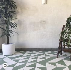 Gorgeous Green Alalpardo tiles paired with raw plaster. Get the look at Bert and May