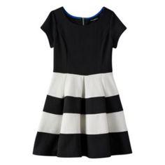 My Michelle Colorblock Skater Dress - Girls 7-16