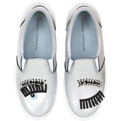 Chiara Ferragni Women 30mm Flirting Eyes Slip-on Sneakers