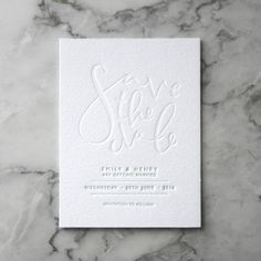 Letterpress Save the Date Invites 50 Pieces by TankervillePress