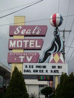 A vestige of 60's Hotel Row along Aurora Avenue