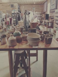 Notice White Feather Studio pottery up front. Amish Market, Magic House, Amish Country, Practical Magic, White Feathers, Natural Products, Michigan, Table Settings, Shops