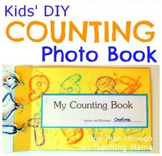 DIY Counting Photo Book with Free Printable - Great hands on idea.  I like how they use items their child is familiar with, as well as the counter attached to the book.