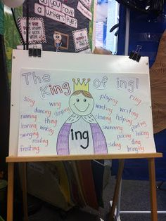 Adventures With Firsties: The King of -ing!  Great lesson to use during this week of the Feast of Christ the KING!