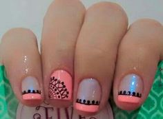 Trendy Ideas For Nails Design Summer Gel French Manicures Fun Gel French Manicure, French Tip Nails, Nail Manicure, My Nails, Hair And Nails, French Manicures, Black Nail Designs, Diy Nail Designs, Acrylic Nail Designs