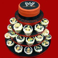 Wrestling Cake... Not a fan but my boys would love it