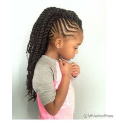 Hairstyle for little girl--twists