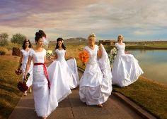 Panny, Młode, Ślub, Bukiety, Kwiaty