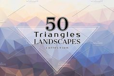 Triangles LANDSCAPES Collection Graphics Get this **large bundle of 50 awesome colorful landscapes** and spice up your next project!All ima by ekaart