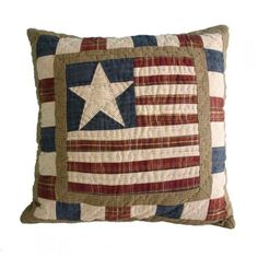 Stars & Stripes Cushion | Comfy Cushions for Childrens Beds | Beautilful Bedding for Boys and Girls | ASPACE
