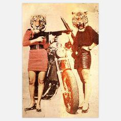 Tiger Girls 12x18