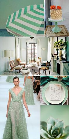 The misty green color, Hemlock. One of this spring's Pantone color trend 2014 2014 Trends, Spring Colors, Pantone Color, Color Trends, Green Colors, Color Inspiration, Spectrum, Tablescapes, Projects To Try