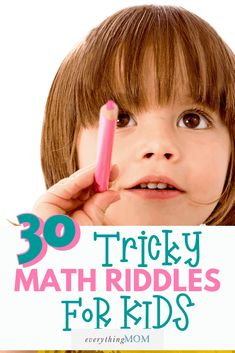 Math riddles for kids not only build great problem-solving strategies, but they are fun for kids to solve! Check out these 30 math riddles for kids!