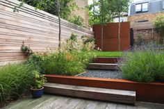 Some garden design projects successfully completed in and around London by the london garden designer Sara Jane Rothwell. Contemporary Landscape, Landscape Design, Porch Garden, Garden Fences, Garden Paths, Urban Garden Design, Small Japanese Garden, Garden Architecture, Architecture Design