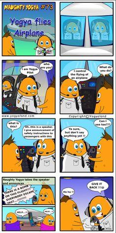Yogya flies Airplane | Daily Comics from Yogyaland.com www.yogyaland.com/comic_strip/yogya-flies-airplane Funny Comics For Kids, Comic Strips, Airplane, Peanuts Comics, Plane, Comic Books, Aircraft, Comics, Airplanes