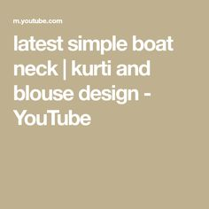 hi guys, I am Payal Verma in this video i will show you latest simple boat neck Boat Neck Kurti, Simple Boat, Mom Daughter, Blouse Designs, Make It Yourself, Youtube, Youtubers, Youtube Movies