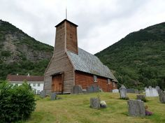 Old Norwegian Church   Gaupne old church, built in 1647, Norway   Norwegian churches   Pinte ...