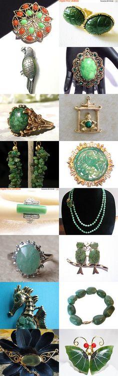 Shades of Jade by Sally Jones on Etsy--Pinned with TreasuryPin.com