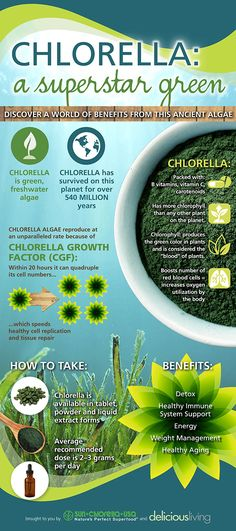 [Infographic] The benefits of chlorella | Nutrition content from Delicious Living
