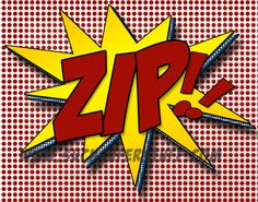 Zip Bang Pow  Collection of 3 Comic Sounds by TheBarberShoppe