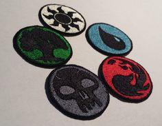 Magic the Gathering Basic Lands Iron-on Patches