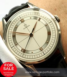 Great Oversize Jumbo Omega Two Tone Dial Patek Philippe, Skeleton Watches, Expensive Watches, Vintage Omega, Seiko Watches, Luxury Watches For Men, Vintage Watches, Stainless Steel Case, Cool Watches