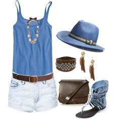 """""""Cowboy Fedora Panama Hat"""" by ding1 on Polyvore"""