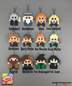 *NEW* Party Favors are now available in 3 different styles: Zipper Pulls, Magnets, or Pins! Our pixel style Harry Potter Party Favors are a MUST for your party! Completely handmade from original Madam FANDOM Pixel Art, each character is topped off with your choice of a Zipper Pull (ideal