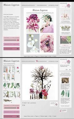 Refonte du site Maison Legeron Créateur de fleurs artificielles haut de gamme.