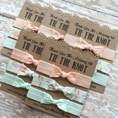 Thank You For Helping Me Tie The Knot   Bridesmaid Hair Ties   Bridal  Shower Gift b4913a2ad9d