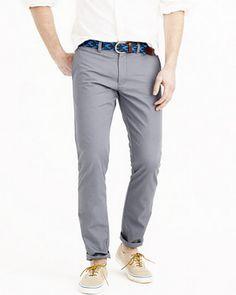 Lightweight Grey Chino Pants