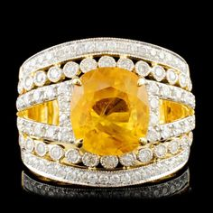 Buy online, view images and see past prices for 14K Gold 5.01ct Sapphire & 0.93ctw Diamond Ring. Invaluable is the world's largest marketplace for art, antiques, and collectibles.