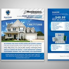 X Eye catching POSTCARD for Alarm company. Postcard, flyer or print contest design Alarm Companies, Security Companies, Home Security Systems, Books Everyone Should Read, Creative Flyer Design, Custom Postcards, Security Cameras For Home, New Homeowner, Windows