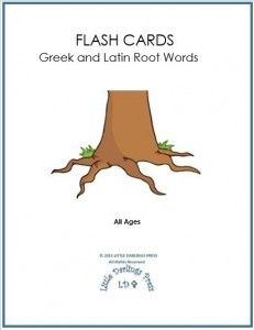 FREE Greek and Latin Root Words Flash Cards! Students will excel in science, language arts, and foreign languages with Greek and Latin root words.  These flash cards are simple and inexpensive to make. Watch knowledge take root after practicing these 99 words and definitions!