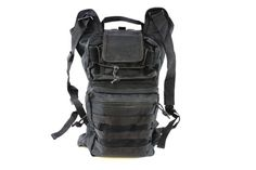 AMA Folding Backpack w/ MOLLE Webbing - BLACK | DT-PACK-102B