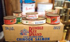 Exhibits at the Bumble Bee Cannery Museum tell how salmon and tuna were caught and canned in Astoria.