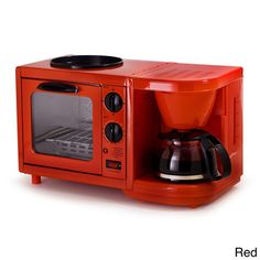 @Overstock.com - Maxi Matic Versatile 3-in-1 Mini Breakfast Maker - This bright, compact mini breakfast maker is the perfect addition to any dorm room, RV or small kitchen. Complete with a 4-cup drip coffee maker, oven top griddle and toaster oven, you will be making more than just breakfast with this versatile cooker.  http://www.overstock.com/Home-Garden/Maxi-Matic-Versatile-3-in-1-Mini-Breakfast-Maker/8358940/product.html?CID=214117 $39.99