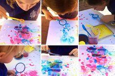 S'amuser avec des bulles de savon - Peindre avec des bulles de couleur