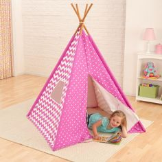 Easy to assemble and ready for whatever their imaginations can dream up, this teepee is a great source of indoor fun.