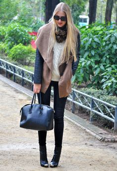 Bershka  Coats, Q2  Sweaters and Zara  Boots
