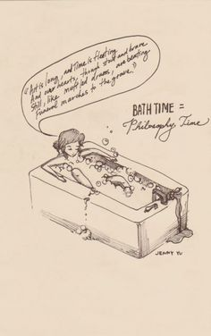 "INFP // ""Bath time = Philosophy time"""