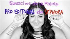 Swatches de la palette Pro Editorial de Sephora